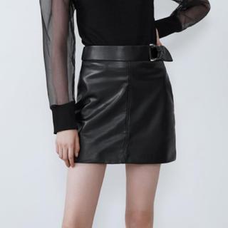 ZARA - フェイクレザースカート