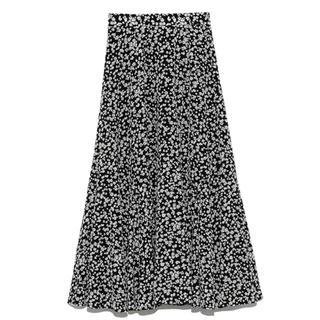 snidel - 正規品 タグ付新品 サテンプリントヘムスカート