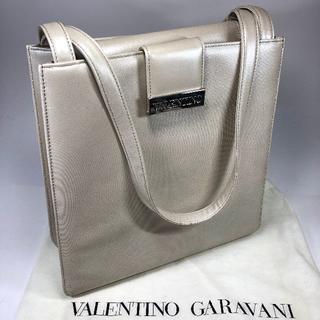 valentino garavani - 【美品】バレンチノガラバーニ レザー ショルダーバッグ アイボリー
