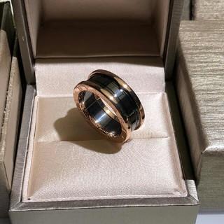 ブルガリ(BVLGARI)のビーゼロワン スリーバンドリング ブラックセラミック(リング(指輪))