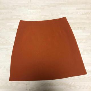 ジーユー(GU)のスカート  台形 ミニ オレンジ(ミニスカート)