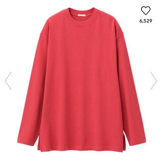 ジーユー(GU)のロングスリーブT Lサイズ ピンク GU(Tシャツ(長袖/七分))