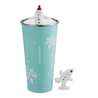 スターバックスコーヒー(Starbucks Coffee)のスターバックス[雪だるま  タンブラー]クリスマス限定 台湾 海外(タンブラー)