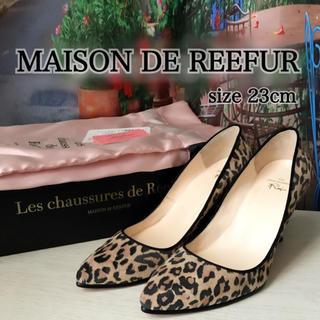 Maison de Reefur - 美品‼️メゾンドリーファー✨レオパード柄❤️美脚パンプス(送込)