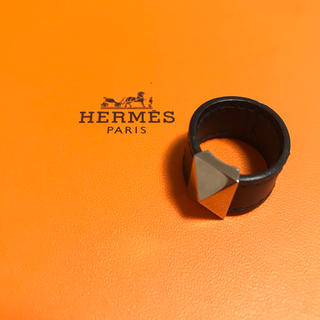 Hermes - 【人気商品】エルメス レザーリング ブラック×シルバー