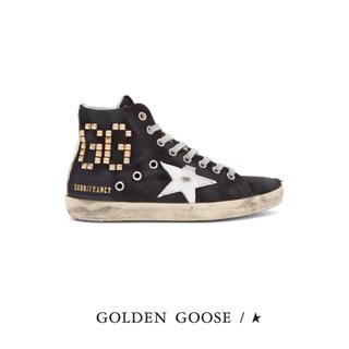 ゴールデングース(GOLDEN GOOSE)の未使用♡GOLDEN GOOSE♡FRANCY♡ロゴスタッズスニーカー♡37(スニーカー)