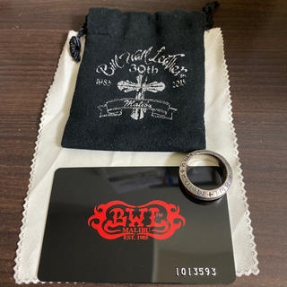 ビルウォールレザー(BILL WALL LEATHER)のBWL SPACER RING (LARGE) malibu(リング(指輪))