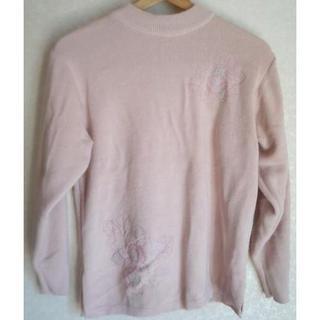 送料無料!Venticello刺繍いり★毛混長袖ニットセーター☆大きいサイズ(ニット/セーター)
