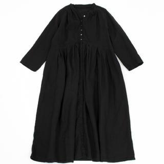 nest Robe - * 今季 ネストローブ  リネンYネックドレス *