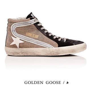 ゴールデングース(GOLDEN GOOSE)の未使用♡GOLDEN GOOSE♡ベージュハイカットスニーカー♡SLIDE♡36(スニーカー)