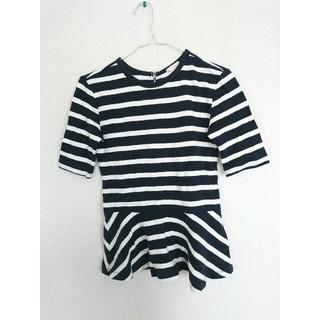 ギャップ(GAP)のGAP ギャップ ボーダー 五分袖 ペプラム カットソー Tシャツ XS(カットソー(長袖/七分))