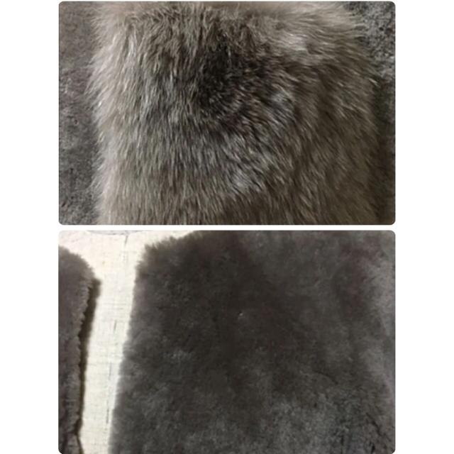 GRACE CONTINENTAL(グレースコンチネンタル)の専用!定価21万!グレースコンチネンタル☆メリノノーカラーコート レディースのジャケット/アウター(毛皮/ファーコート)の商品写真