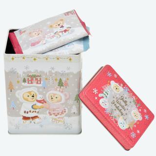 ダッフィー - ダッフィー&フレンズ  ウィンターホリデー ☆ チョコレートカバード ラスク缶