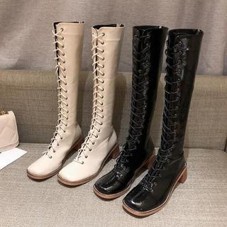 韓国ファッション  新作  編み上げ  ブーツ 靴 マーティンブーツ  (ブーツ)
