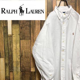 Ralph Lauren - 【激レア】ラルフローレン☆ワンポイント刺繍カラーポニーボタンダウンシャツ 90s