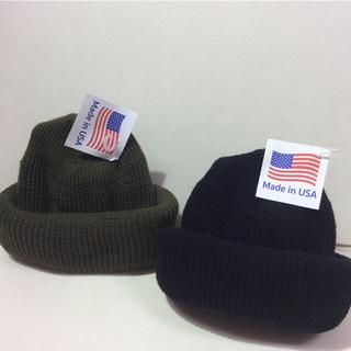 ロスコ(ROTHCO)のROTHCO knitcap BLACK&OLIVE  2個 ロスコニット帽(ニット帽/ビーニー)
