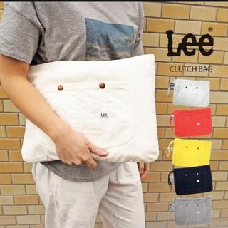 Lee - 【送料無料】極美品!!Leeリー*コーデュロイホワイトクラッチバッグ