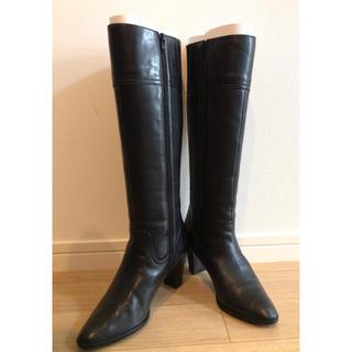 ダイアナ(DIANA)のダイアナ 黒ブーツ 22.5cm(ブーツ)