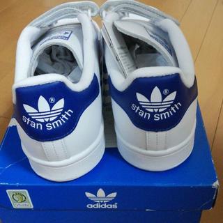 アディダス(adidas)の新品 未使用 アディダスオリジナルス スタンスミス ブルー ベルクロ 26.5(スニーカー)