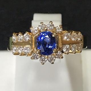 ダイヤモンド&サファイヤリング 天然ダイヤ 新品未使用 即日発送