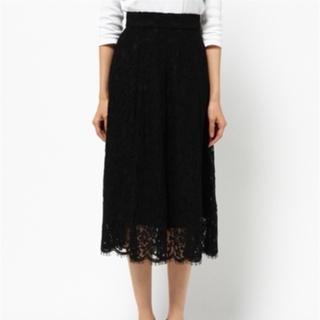 ムルーア(MURUA)のMURUA コードレースフレアスカート(ひざ丈スカート)