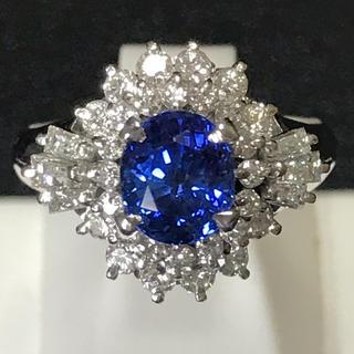 ダイヤモンド&サファイヤリング 鑑定書付き 天然ダイヤ 新品未使用 即日発送