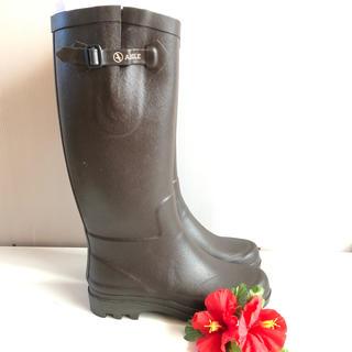 エーグル(AIGLE)の【新品未使用】AIGLE ラバーブーツ エーグランティーヌ ブラウン(レインブーツ/長靴)