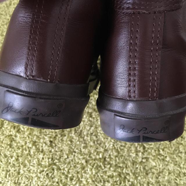 CONVERSE(コンバース)のconverse ジャックパーセル 24.5cm ハイカット レザー  レディースの靴/シューズ(スニーカー)の商品写真