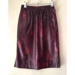 TSUMORI CHISATO - ツモリチサト☆バラ薔薇 レッドバイオレットスカート 美品!