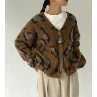 TODAYFUL - 【極美品】TODAYFUL Leopard Mohair Cardiganニット