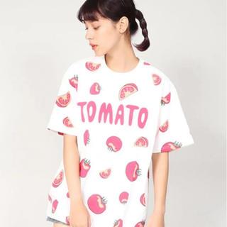 プニュズ(PUNYUS)のPUNYUS トマト Tシャツ サイズ4(Tシャツ(半袖/袖なし))