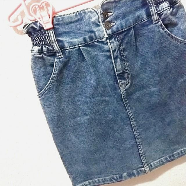 Avail(アベイル)のAvail 裏起毛 デニム タイト スカート♥️M GU レディースのスカート(ミニスカート)の商品写真