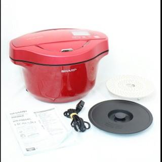 SHARP - シャープ 水なし自動調理鍋 2.4L ヘルシオホットクック KN-HW24C-R