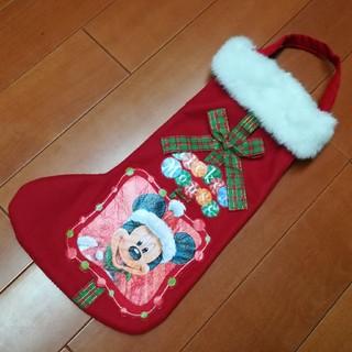 Disney - ミッキー★クリスマスブーツ型ラッピングバッグ