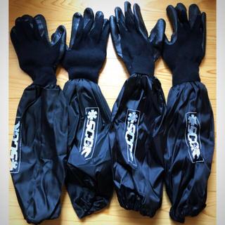 ブリヂストン(BRIDGESTONE)の【新品】作業手袋 ロング 2セット タイヤ交換(メンテナンス用品)