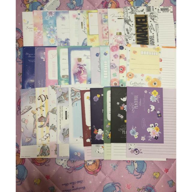 Disney(ディズニー)の全30種レターセット ハンドメイドの文具/ステーショナリー(カード/レター/ラッピング)の商品写真