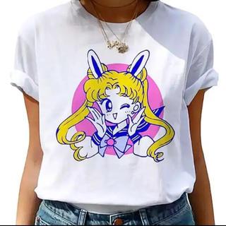 セーラームーン - 【新品未開封】セーラームーン Tシャツ Mサイズ(原作うさ耳うさぎ柄)
