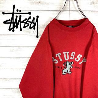 STUSSY - 【激レア】ステューシー☆ビッグロゴ入りスウェット 人気カラーレッド