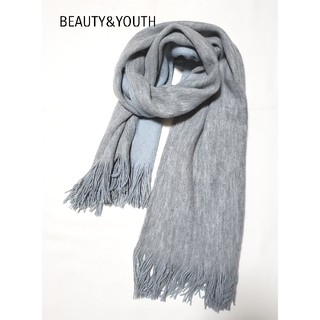 BEAUTY&YOUTH UNITED ARROWS - UNITED ARROWS BEAUTY&YOUTH大判ストール ブルー×グレー