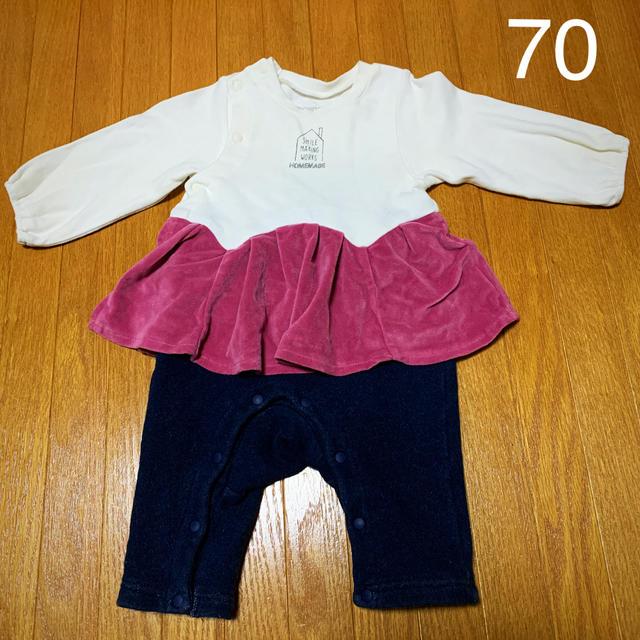 ampersand(アンパサンド)のNo.124 ampersand ロンパース 女の子 70 キッズ/ベビー/マタニティのベビー服(~85cm)(ロンパース)の商品写真