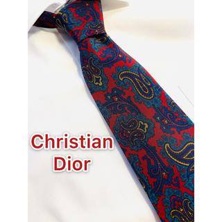 クリスチャンディオール(Christian Dior)の【466】Christian Dior 美品ネクタイ ペイズリー(ネクタイ)