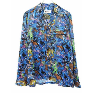 COMME des GARCONS - kidill blue hell アロハシャツ