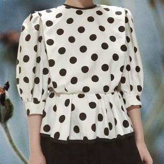 グリモワール(Grimoire)のvintage polka dot blouse(シャツ/ブラウス(長袖/七分))