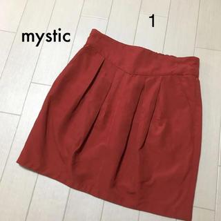ミスティック(mystic)のmystic  薄手 秋冬  タックスカート(ミニスカート)