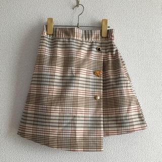 dholic - 韓国 アソートボタン   ベージュ チェック スカート