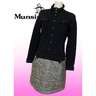 Munsingwear - 美品♡マンシングウェア 中綿  チェック ゴルフワンピース ゴルフウェア  秋冬