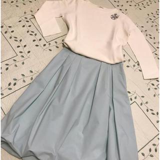 トゥービーシック(TO BE CHIC)のTO BE CHICふんわりバルーンスカート40新品タグ付き(ひざ丈スカート)