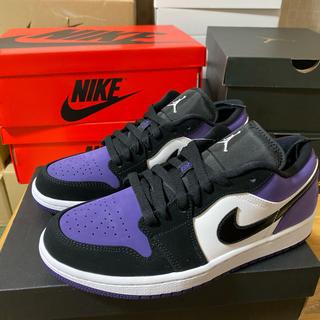 ナイキ(NIKE)のNIKE AIR JORDAN 1 LOW court purple(スニーカー)