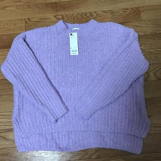 GU - 【新品】ジーユー薄紫セーター