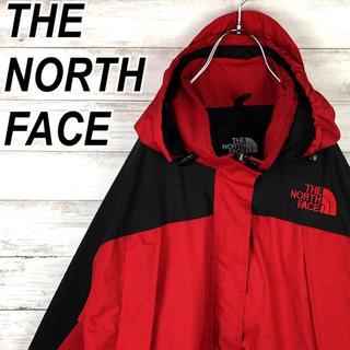 ザノースフェイス(THE NORTH FACE)のノースフェイス マウンテンパーカー ナイロン 赤 黒 90s 送料無料 レア(マウンテンパーカー)